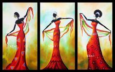 Patrones punto de cruz en pdf | Aprender manualidades es facilisimo.com African Art Paintings, African Theme, Africa Art, Wine Art, African American Art, Mural Art, Tribal Art, Female Art, Bunt
