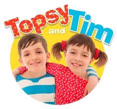 Topsy and Tim es una serie de libros ilustrados creada en 1960, y posteriormente una serie de animación y otra interpretada por actores. Describe la vida cotidiana de dos hermanos gemelos de 5 años de edad y sus padres en un barrio de clase media británico. Topsy and Tim nos acerca a las expresiones cotidianas que los padres ingleses usan con sus hijos y enseña a nuestros hijos un inglés británico muy estándar, respetuoso y actual.