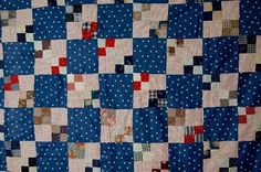 Longarm Quilting service-custom with a lot of straight lines ( deposit only) Primitive Quilts, Antique Quilts, Vintage Quilts, Miniature Quilts, Square Patterns, Longarm Quilting, Square Quilt, Stamp, Red And Blue