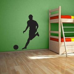 Large Soccer Player Wall Decal