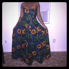 Ankara Sleeveless Crop Top & Maxi Skirt Gorgeous Custom Made Ankara Sleeveless Crop Top & Maxi Skirt. Other