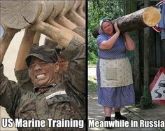 US Marine Training / Meanwhile in Russia--lol! Haha Funny, Funny Cute, Funny Jokes, Hilarious, Funny Humour, Stupid Funny, Meanwhile In Russia, Us Marines, Funny Bunnies