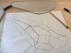 DIY Bee Wings Halloween Costume - scratchandstitch.com This is more realistic.