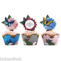 Art Deco Style Cake Wraps & Toppers Butterflies x 12 Weddings / Parties | eBay