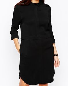Image 3 ofWarehouse Concealed Zip Shirt Dress