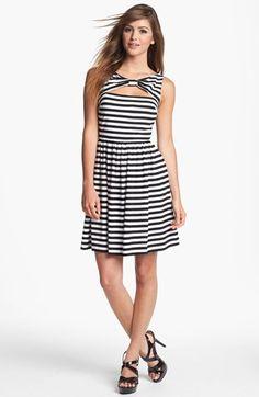 Stripe Fit & Flare Dress