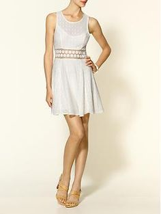 Free People Daisy Waist Woven Lace Dress | Piperlime