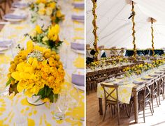 Cheerful Yellow Wedding in Wine Country by Alison Events // Inspired by This Blog