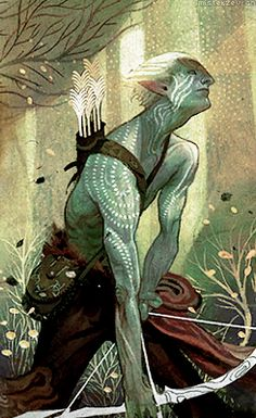 Dragon Age: Inquisition tarot card - Elf