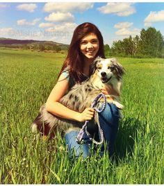 Alisha Newton and dog Zoey