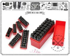 20 Patterns DIY Leather Craft Tools Stamps Set by HandWork2015