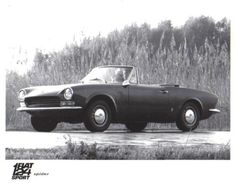 Fiat 124 Sport Spider c. 1968 original Press Photograph