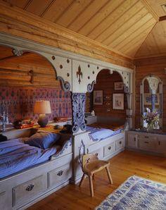 The beds are room design home design house design interior design designs Bunk Rooms, Attic Rooms, Bunk Beds, Twin Beds, Attic Bed, Attic Floor, Attic House, Attic Playroom, Attic Window