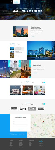 Real-estate is among the industries who are stepping up with their online marketing. Best Web Design, Ui Design, Find A Realtor, Website Layout, Real Estate Agency, Web Design Inspiration, Design Ideas, Portfolio Website, Property Listing