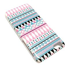 National Style Abstract Geometric Pattern Plastic Hard Case for iPhone 5C - USD $ 2.99