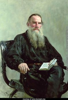 Portrait of Lev Tolstoy - Ilya Efimovich Efimovich Repin Reproduction