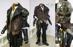 This is the matching costume to the Lady Steampunk Pirate Costume. One of my goals making these costumes was to be able give both costumes a steampunk f. Arte Steampunk, Steampunk Pirate, Steampunk Men, Steampunk Cosplay, Steampunk Design, Victorian Steampunk, Steampunk Clothing, Steampunk Fashion, Steampunk Assassin