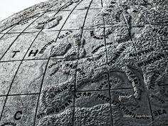 Swanage Dorset World Map Globe Print Digital by OxfordDownloads