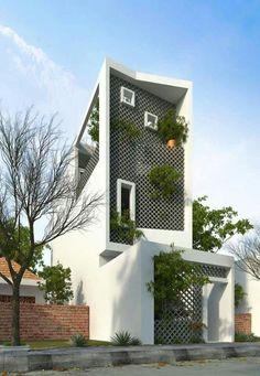 56 Stylish home Black and white house exterior design Facade Architecture, Amazing Architecture, Contemporary Architecture, Tropical Architecture, Contemporary Houses, Facade Design, Exterior Design, Eco Deco, Exterior Tradicional