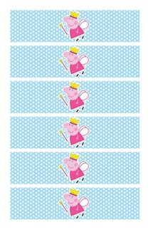 Imprimibles Peppa Pig celeste - www.susaneda.com Invitacion Peppa Pig, Cumple Peppa Pig, Aniversario Peppa Pig, Pig Candy, 3rd Birthday, Birthday Parties, Free Prints, Baby Party, Minions