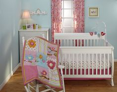 Little Bedding Sweet Lil Birds Baby Bedding Collection