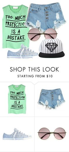 """""""Untitled #340"""" by sara-bitch1 ❤ liked on Polyvore featuring 5 Preview, Converse and Diamond Supply Co."""