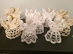 Hand crocheted angel for your Christmas tree or gift. by Niezapominajkinet on Etsy