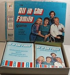 Vintage 1972 ALL IN THE FAMILY TV Show Board Game by Milton Bradley