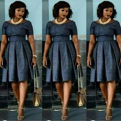 Look Jumoke Raji looks chic and style in her pleated dress Latest African Fashion Dresses, African Print Dresses, African Print Fashion, African Dress, African Attire, African Wear, African Women, Modest Fashion, Fashion Outfits