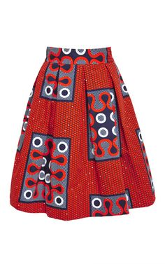 Printed Cotton Skirt by Stella Jean Now Available on Moda Operandi