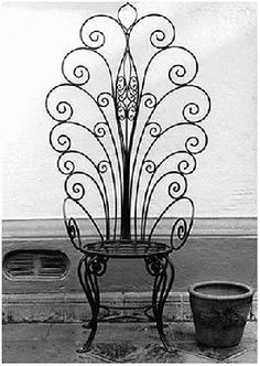 iron chair, want. Would look beautiful with vines groaning up it