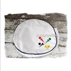 Golf Bermuda Bag Purse Handbag Cover Bermuda Bag Cover Embroidered Golf Ball Tee Small Purse Replacement Bag White This is a classic Bermuda Bag cover replacement. Very preppy. It fits purses with 4 buttons  Gently Pre-Owned Red / White / Blue / Yellow  Embroidered Golf Balls and Golf Tees White liner (not reversible) Measures approximately Liners: 7.5 inches high x 8.5 inches inches wide x 2 inches deep Bags
