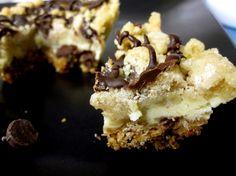 Choco chip cookie dough cheesecake bars