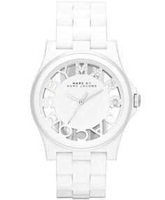 Marc by Marc Jacobs Women's Henry White Nylon Bracelet Watch 41mm MBM4571