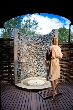 Ngala Lodge shower. - Kruger Park