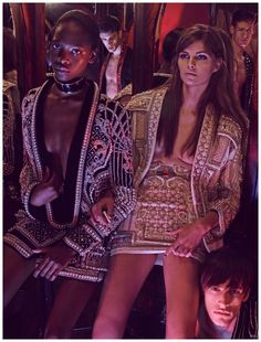 Balmain Army in Tetu's March 2015 issue. Photographer Mariano Vivanco. Fashion editor Olivier Rousteing!