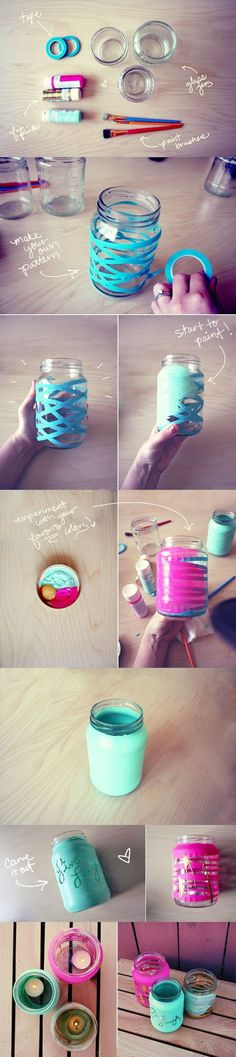 DIY Colored Mason Jars diy craft crafts home decor easy crafts diy ideas diy…