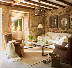Traditional Hotel in Spain. More like a house the place is perfect for those who feel overwhelmed by the daily routine. Stone House, House Design, Decor, Hotel, Furniture, House, Home, Home Decor, Room