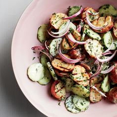 Creamy Cucumber & Grilled Potato Salad // More Great Potato Salads: http://www.foodandwine.com/slideshows/potato-salad #foodandwine