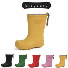 Bisgaard rainboots for kids, be prepared for the rain!