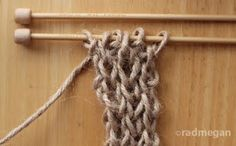 radmegan: in words and pictures: Knitting a Jute Satchel