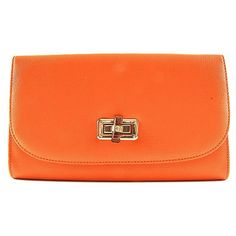 Accessories-Handbags-Orange Messenger Enveleope Clutch Bag- Handbag... via Polyvore