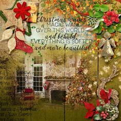 Wands, Digital Scrapbooking, Poetry, Layout, Lights, Christmas, Collection, Art, Xmas