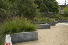 Design Through Discovery: The Elements and Principles    Why use a straight line when you can make it zigzag? I love these stair-step raised planters that create a dynamic edge to this gravel garden. The zigs and zags of the retaining wall are more than functional — they're an important design ingredient. Moreover, this approach creates bonus planting space that a straight retaining wall wouldn't offer.