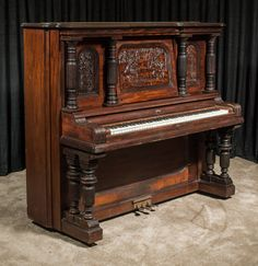 "Strich & Zeidler ""Roman"" Model Upright Piano | The Antique Piano Shop"