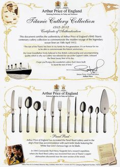 Titanic Cutlery Collection