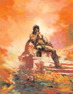 Image result for predator vs tarzan cover painting