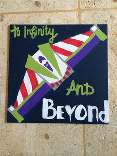 To infinity and beyond buzz lightyear toy story inspired painted canvas diy