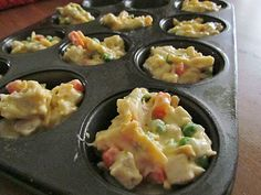 Mini Chicken Pot Pies - These were a huge hit. We ate them all and the kids asked for more. And it is so, so easy if you have precooked chicken - done in 20 min!