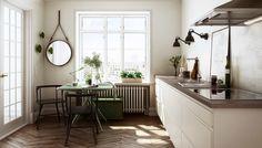 Minikjøkken i enkelt og rent design